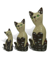 Arte Presentes - Trio de gatos II